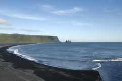 взгляд Исландии dyrholaey плащи-накидк Стоковое Изображение RF