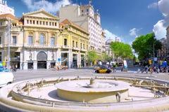 взгляд Испании города barcelona стоковые фотографии rf