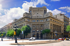 взгляд Испании города barcelona стоковая фотография rf