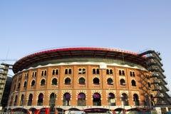 взгляд Испании bullring barcelona арен стоковое фото