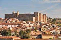 взгляд Испании siguenza guadalajara панорамный Стоковые Изображения RF