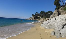 Взгляд Испания пляжа Стоковые Фото