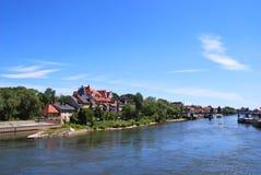 Взгляд исторического центра Регенсбурга стоковое изображение rf