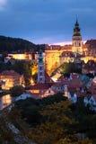 Взгляд исторического центра Cesky Krumlov, чехии стоковое фото rf