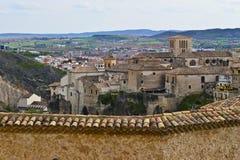 Взгляд исторической части Cuenca, Испании стоковое фото rf