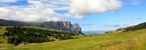взгляд Италии доломитов sciliar Стоковое Фото