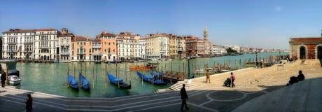 взгляд Италии панорамный venice канала грандиозный Стоковые Фотографии RF