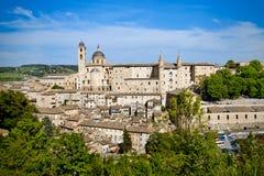 взгляд Италии urbino города Стоковые Фотографии RF