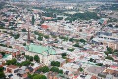 взгляд Канады повышенный городом Квебека Стоковая Фотография