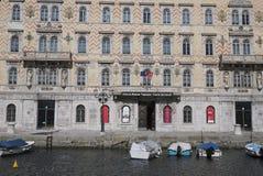 Взгляд канала большой в Триесте стоковые фотографии rf