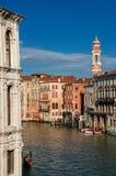 Взгляд канала Венеции Gran Стоковая Фотография