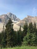 Взгляд каньона горы в скалистых горах Канаде стоковое изображение rf