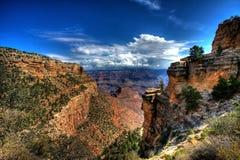 взгляд каньона грандиозный сценарный стоковое изображение