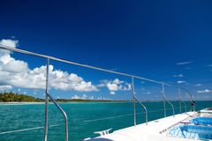 взгляд карибского моря шлюпки стоковая фотография rf