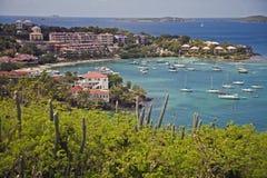 Взгляд карибской гавани стоковые фотографии rf