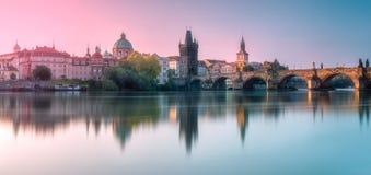 Взгляд Карлова моста Праги, чехии Стоковое Изображение RF