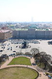 взгляд квадрата святой isaac petersburg России Стоковые Фото