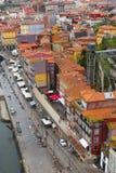 Взгляд квартала Ribeira в Порту, Португалии Стоковые Фотографии RF