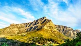 Взгляд Кейптауна, горы таблицы и 12 апостолов Стоковая Фотография RF