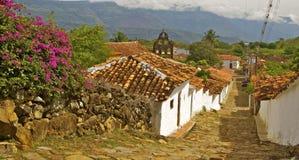 Взгляд колониальной деревни Guane Стоковое Изображение
