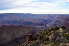 Взгляд Колорадо на национальном парке гранд-каньона, США Стоковое Изображение RF
