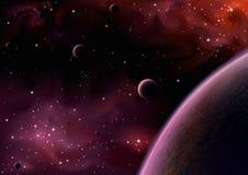 взгляд космоса Стоковое Изображение RF
