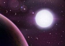 взгляд космоса Стоковая Фотография