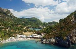 Взгляд, котор нужно преследовать и пристать к берегу на острове Corfu Стоковое фото RF