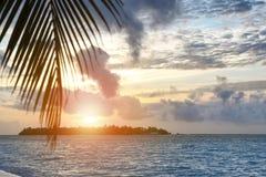 Взгляд красивого seascape на тропическом курорте Стоковые Фото