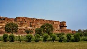 взгляд красного цвета Индии фронта форта agra Стоковые Изображения RF