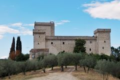 Взгляд крепости Albornoz Narni Италия стоковое изображение