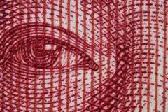 Взгляд крупного плана на китайской банкноте стоковая фотография rf
