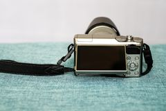 Взгляд крупного плана цифровой фотокамера стоковое фото