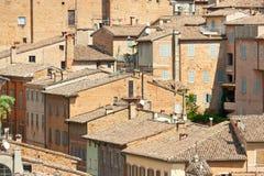 взгляд крыш Италии стоковые фото