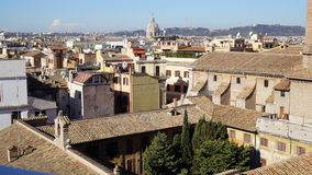 Взгляд крыш Рима стоковые фото