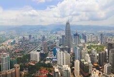 взгляд Куала Лумпур Малайзии города стоковое изображение