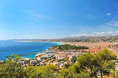 взгляд курорта Франции среднеземноморской славный Стоковое Изображение RF