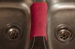 Взгляд кухонной раковины стоковая фотография rf