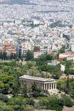Взгляд к виску Hephaestus, Афин, Греции, Европы стоковое изображение rf