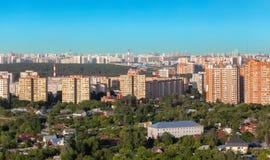 Взгляд к городу Красногорска Стоковые Изображения