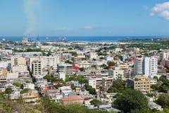 Взгляд к городу Порт Луи, Маврикия стоковая фотография