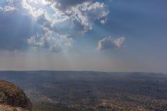 Взгляд к городу Lubango anisette Стоковая Фотография RF