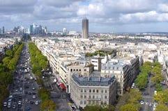 Взгляд к зоне предпринемательства в Париж Стоковое Изображение