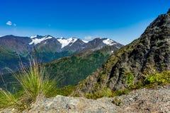 Взгляд к и от держателю Alyeska в Аляске Соединенных Штатах a Стоковая Фотография