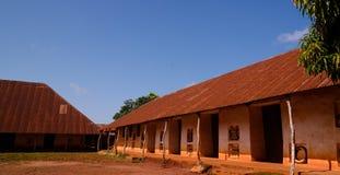 Взгляд к королевским дворцам Abomey, Бенина стоковое фото