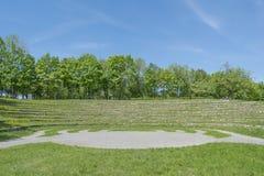 Взгляд к стадиону в древнем городе стоковые изображения rf