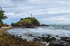 Взгляд к старому маяку Koh Lanta Стоковая Фотография RF