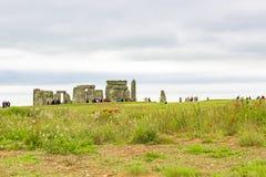 Взгляд к Стоунхенджу, Англии стоковая фотография