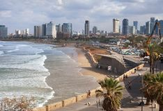 Взгляд к Тель-Авив Стоковое Фото