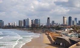 Взгляд к Тель-Авив Стоковые Изображения